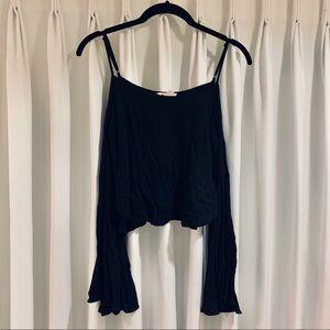 uo silence + noise landon cold-shoulder blouse